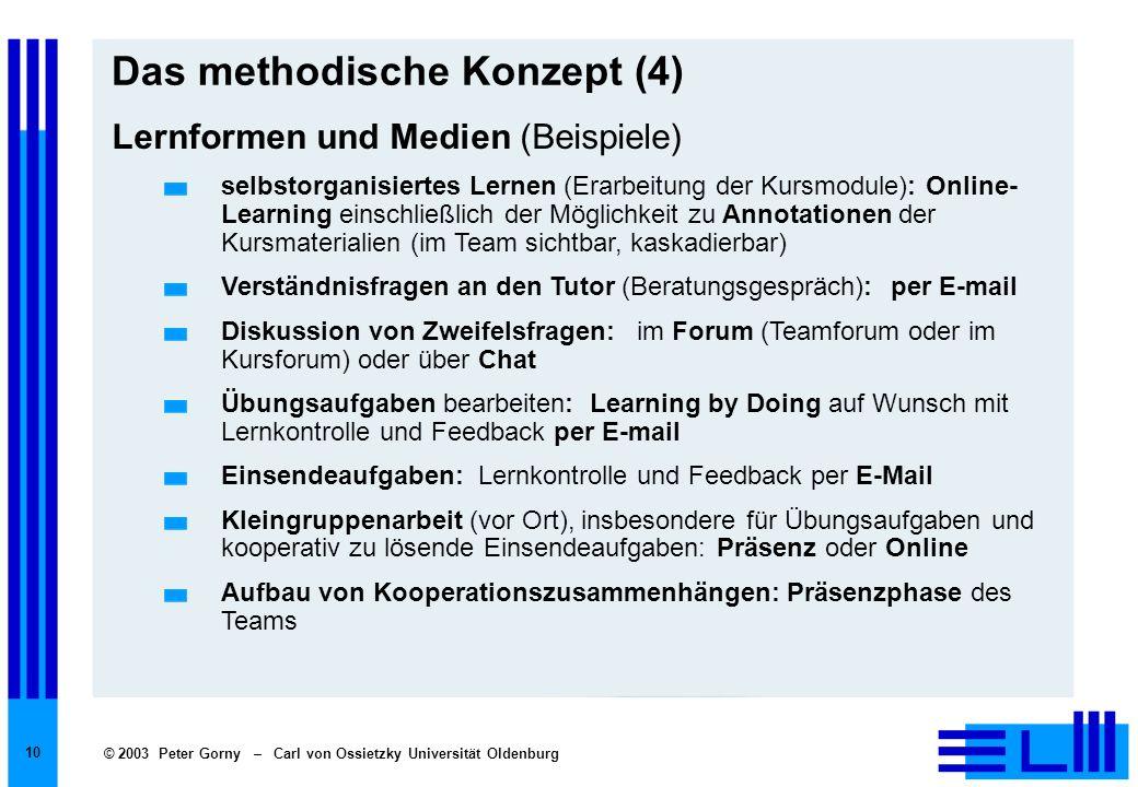 Das methodische Konzept (4)