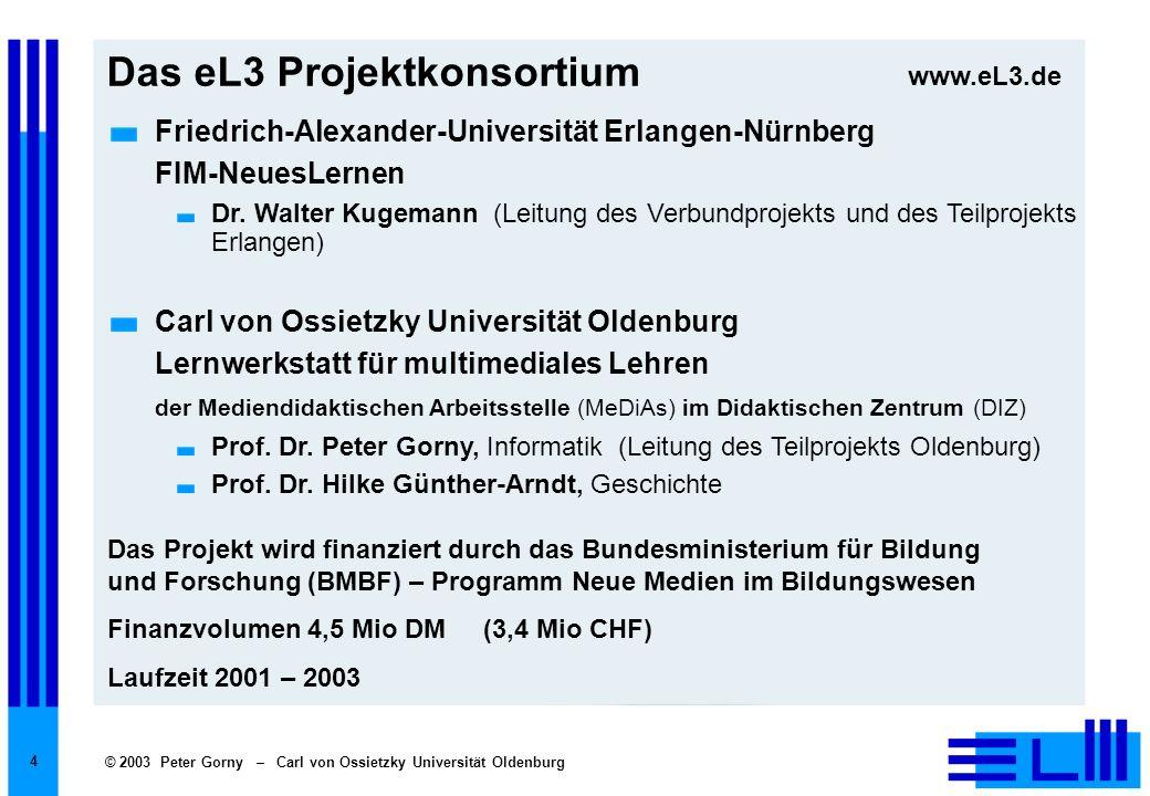 Das eL3 Projektkonsortium