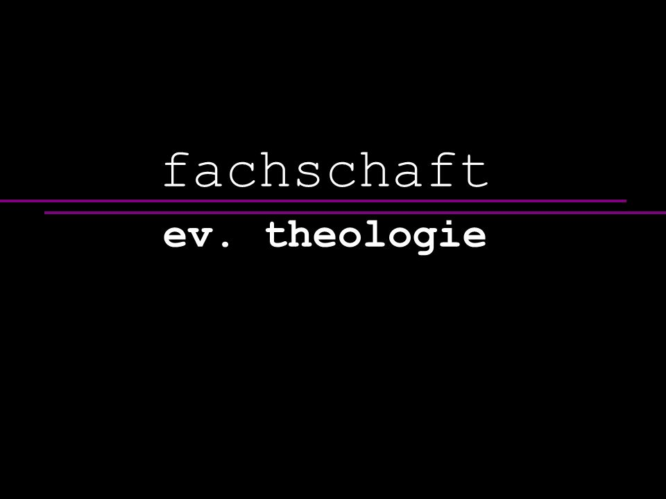 fachschaft ev. theologie