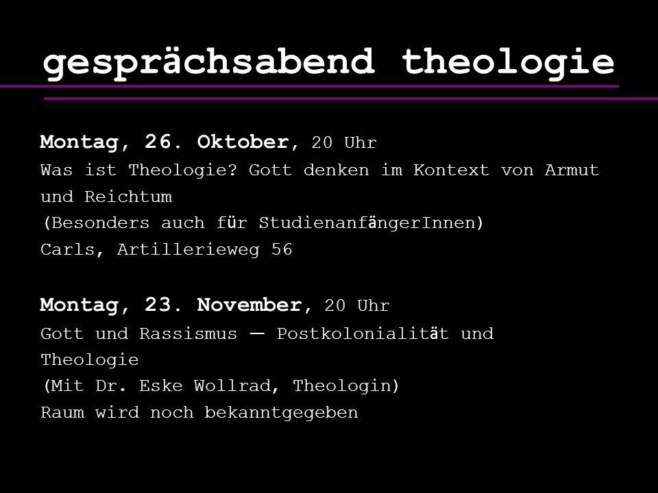 gesprächsabend theologie