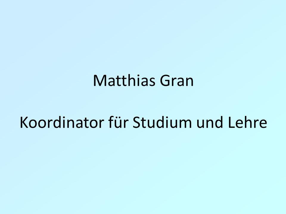 Koordinator für Studium und Lehre