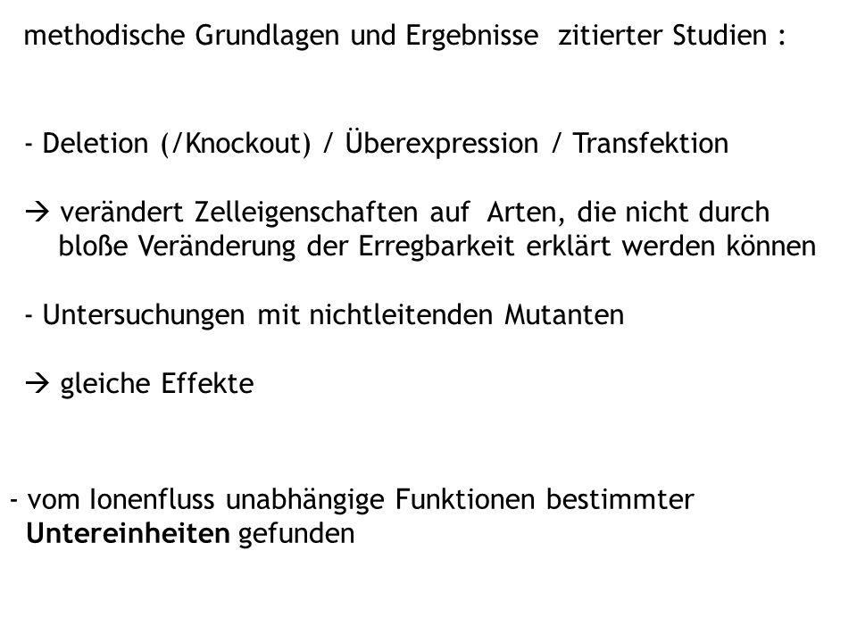 methodische Grundlagen und Ergebnisse zitierter Studien :