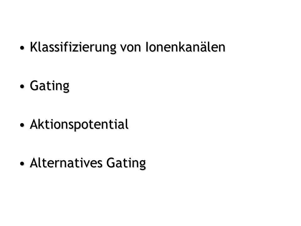 Klassifizierung von Ionenkanälen