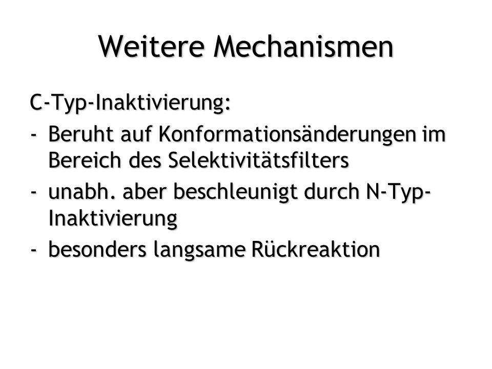 Weitere Mechanismen C-Typ-Inaktivierung:
