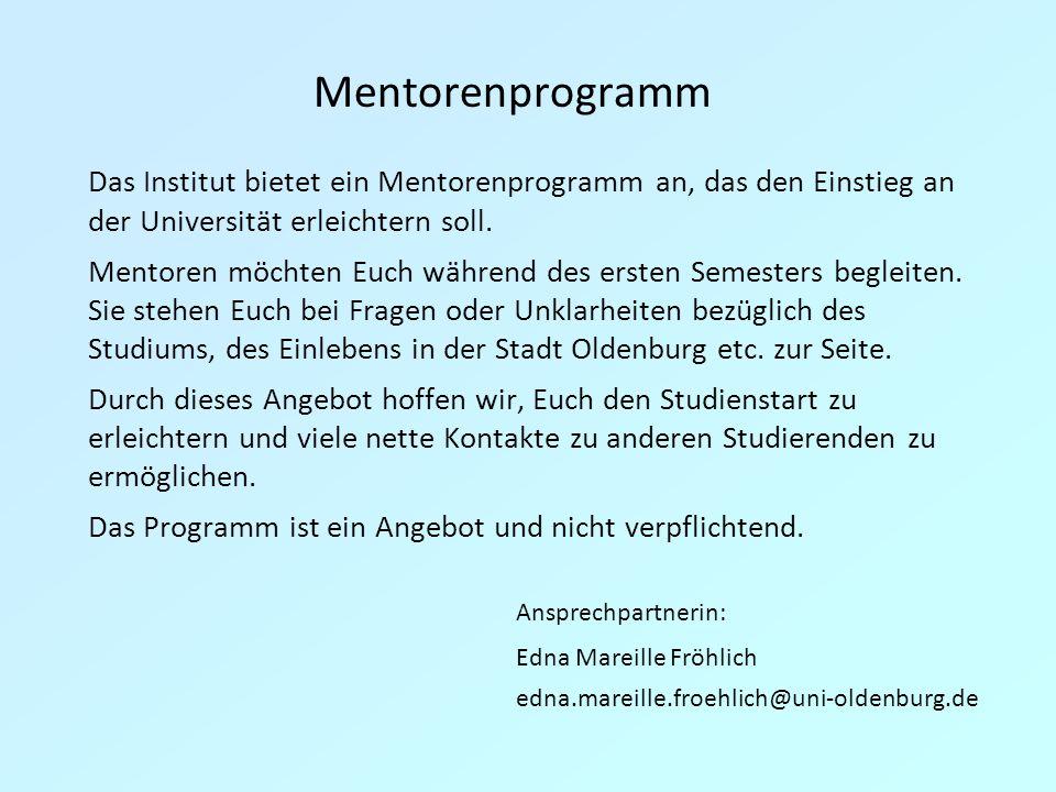 Mentorenprogramm Ansprechpartnerin: