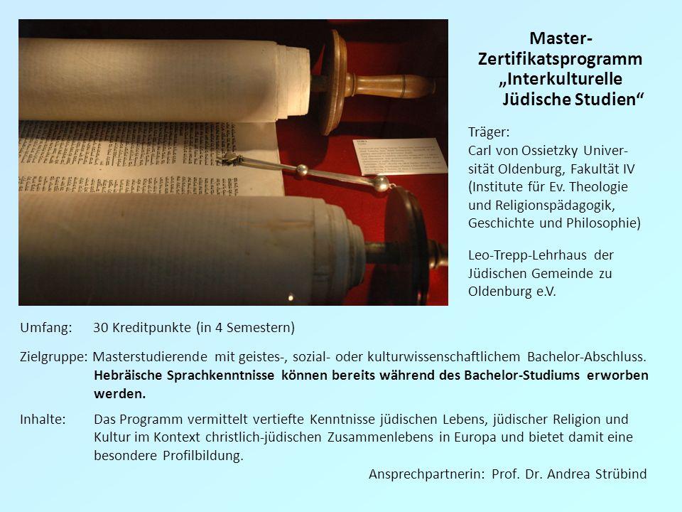 """""""Interkulturelle Jüdische Studien"""