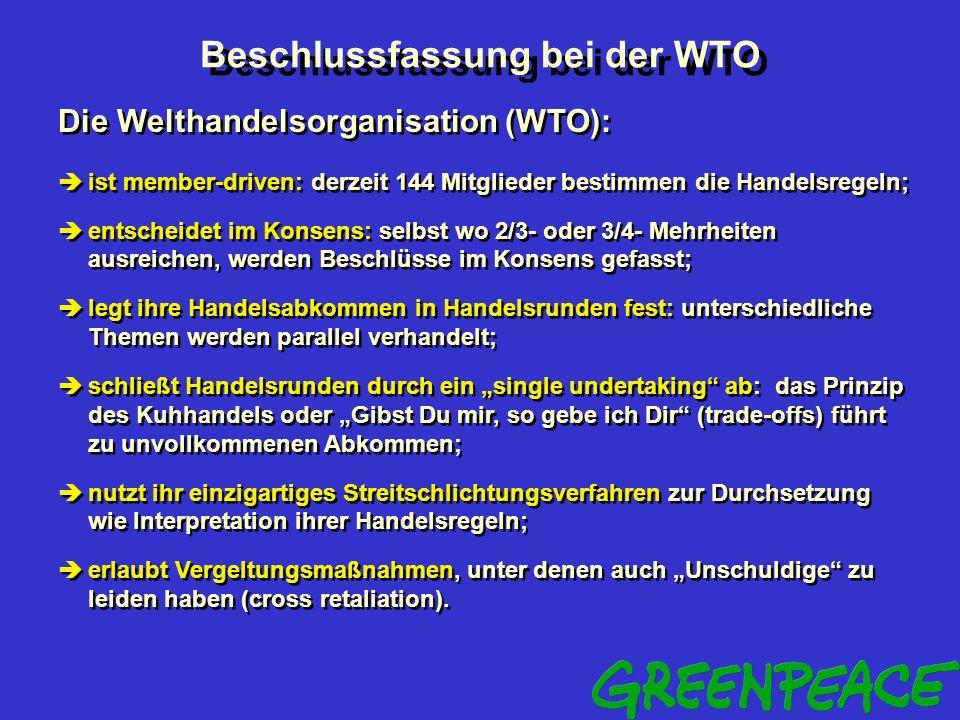 Beschlussfassung bei der WTO