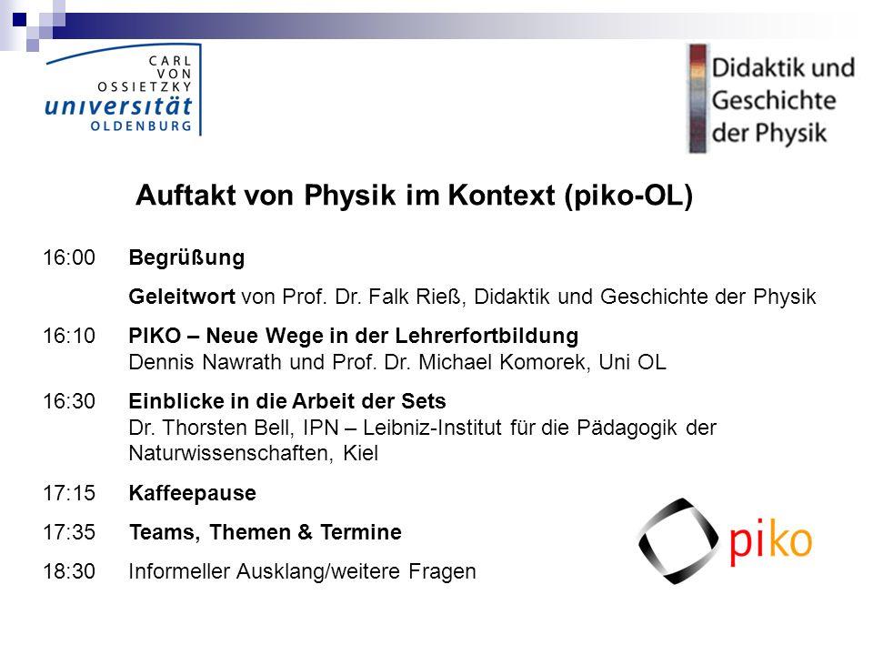 Auftakt von Physik im Kontext (piko-OL)