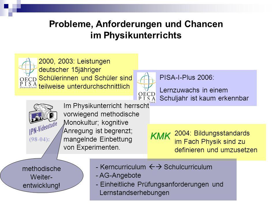 Probleme, Anforderungen und Chancen im Physikunterrichts