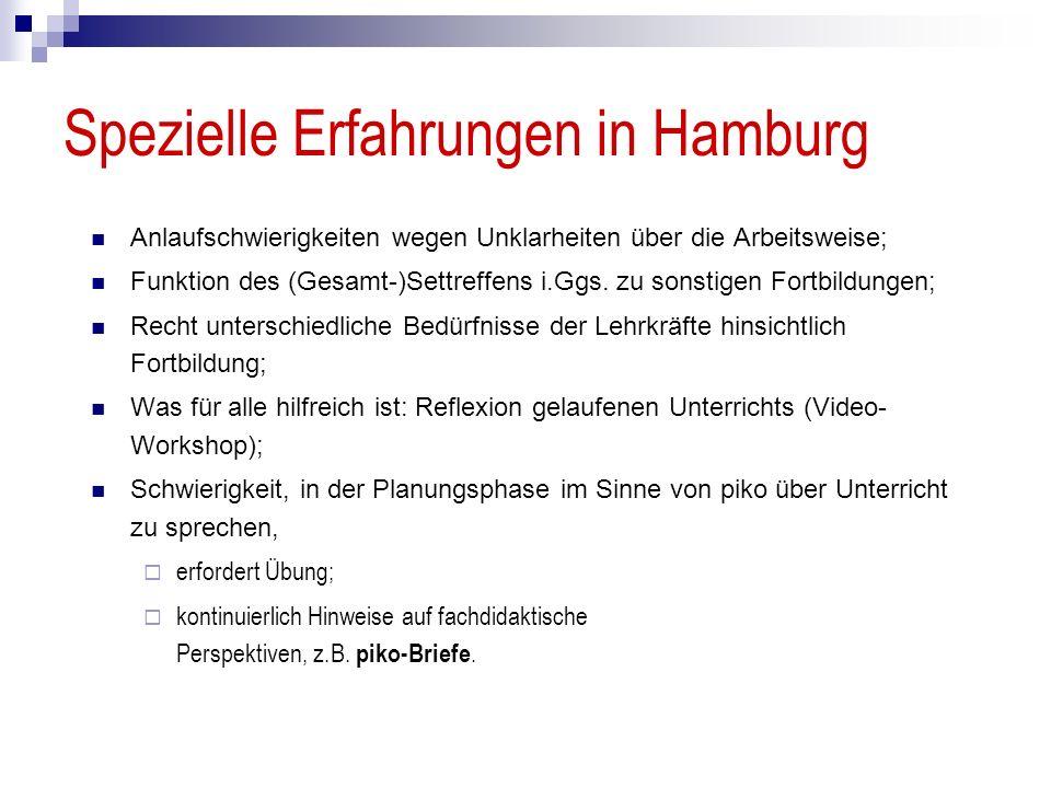 Spezielle Erfahrungen in Hamburg