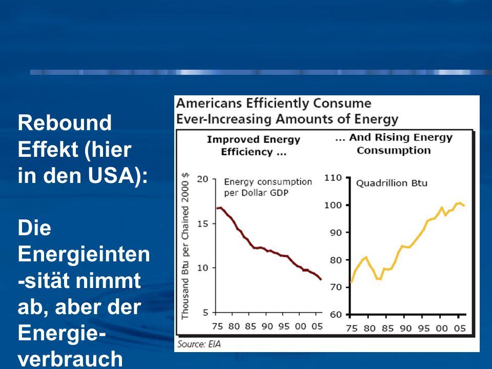 Rebound Effekt (hier in den USA):