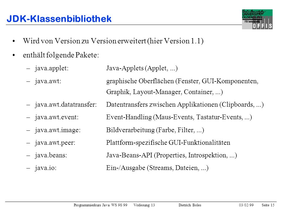 JDK-Klassenbibliothek