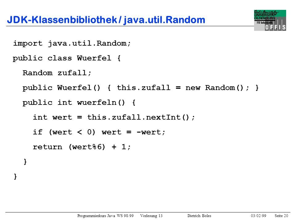 JDK-Klassenbibliothek / java.util.Random