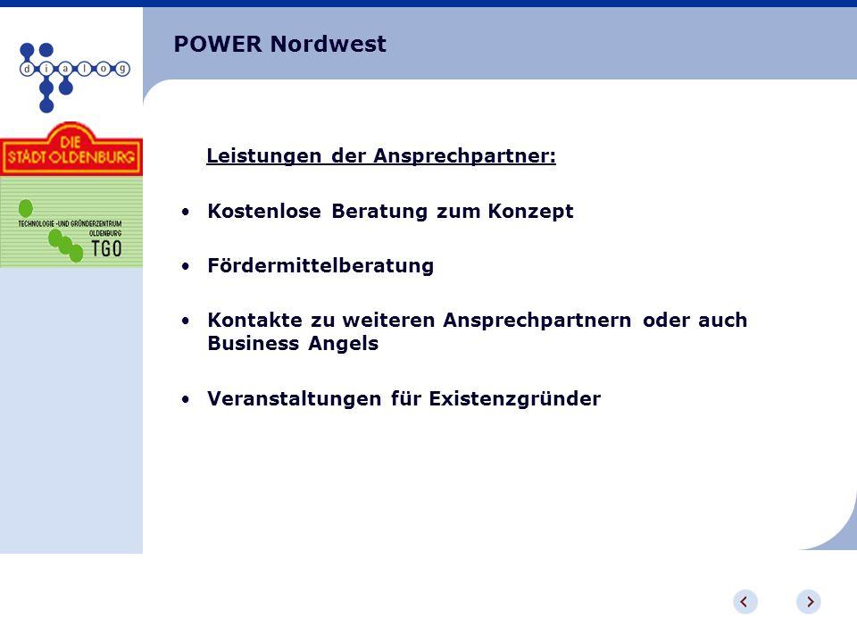 POWER Nordwest Leistungen der Ansprechpartner: