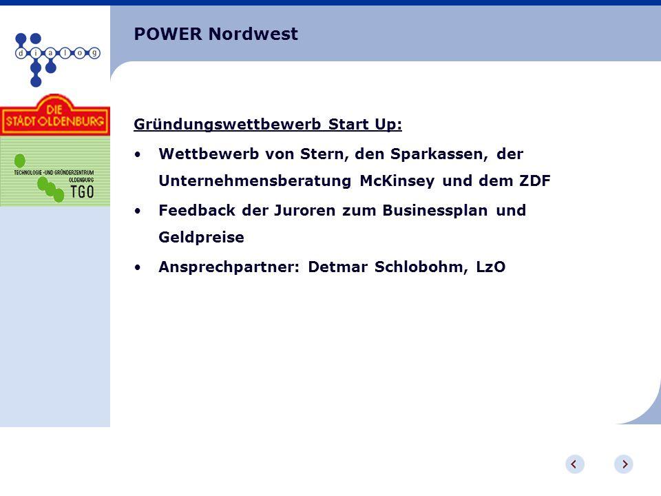 POWER Nordwest Gründungswettbewerb Start Up: