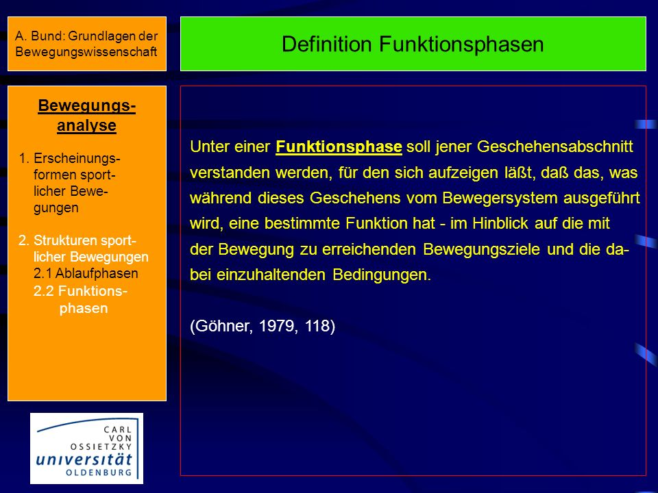 Definition Funktionsphasen