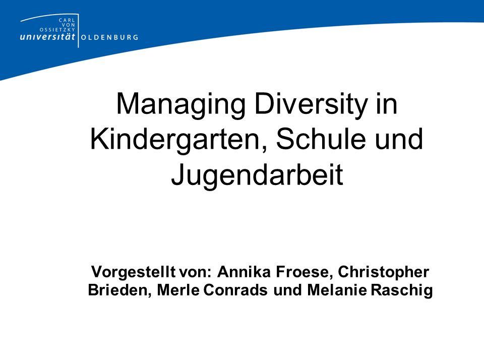 Managing Diversity in Kindergarten, Schule und Jugendarbeit