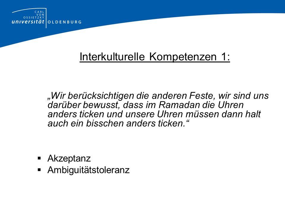 Interkulturelle Kompetenzen 1: