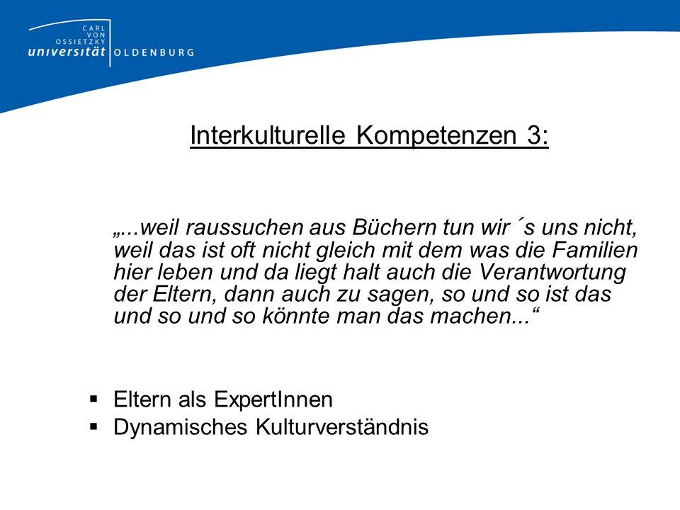 Interkulturelle Kompetenzen 3:
