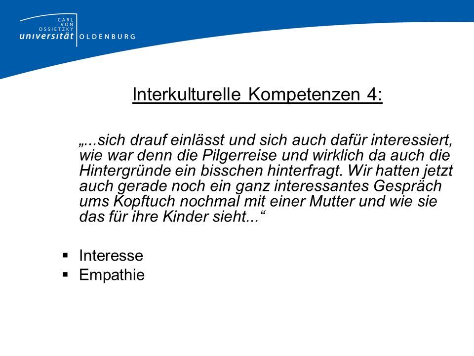 Interkulturelle Kompetenzen 4: