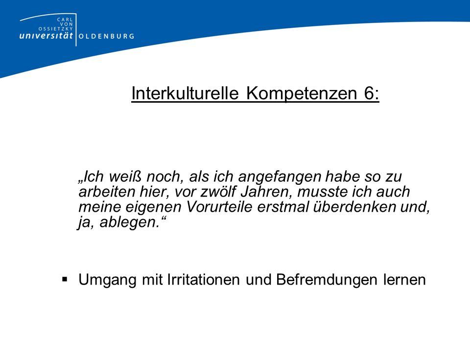Interkulturelle Kompetenzen 6:
