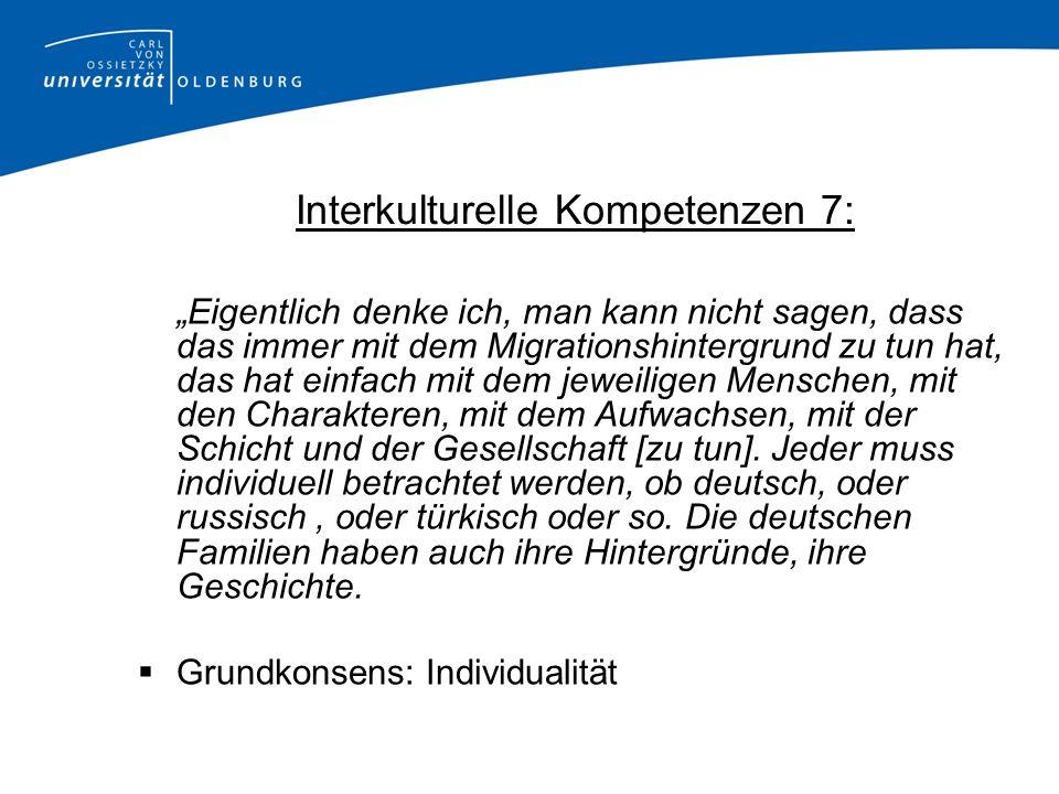 Interkulturelle Kompetenzen 7: