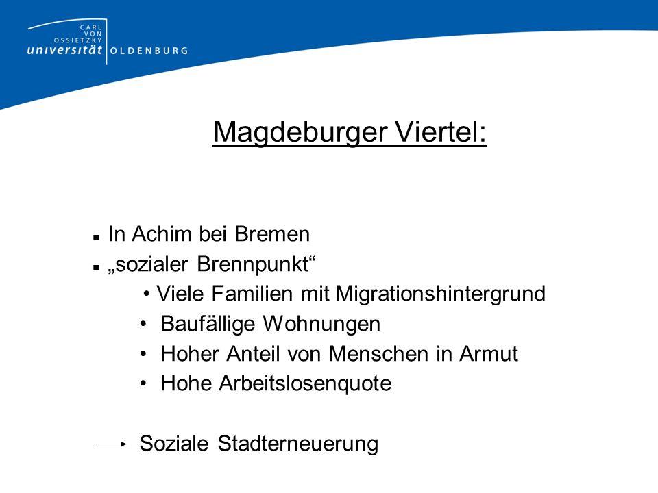 """Magdeburger Viertel: In Achim bei Bremen """"sozialer Brennpunkt"""