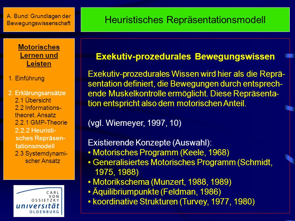 Exekutiv-prozedurales Bewegungswissen