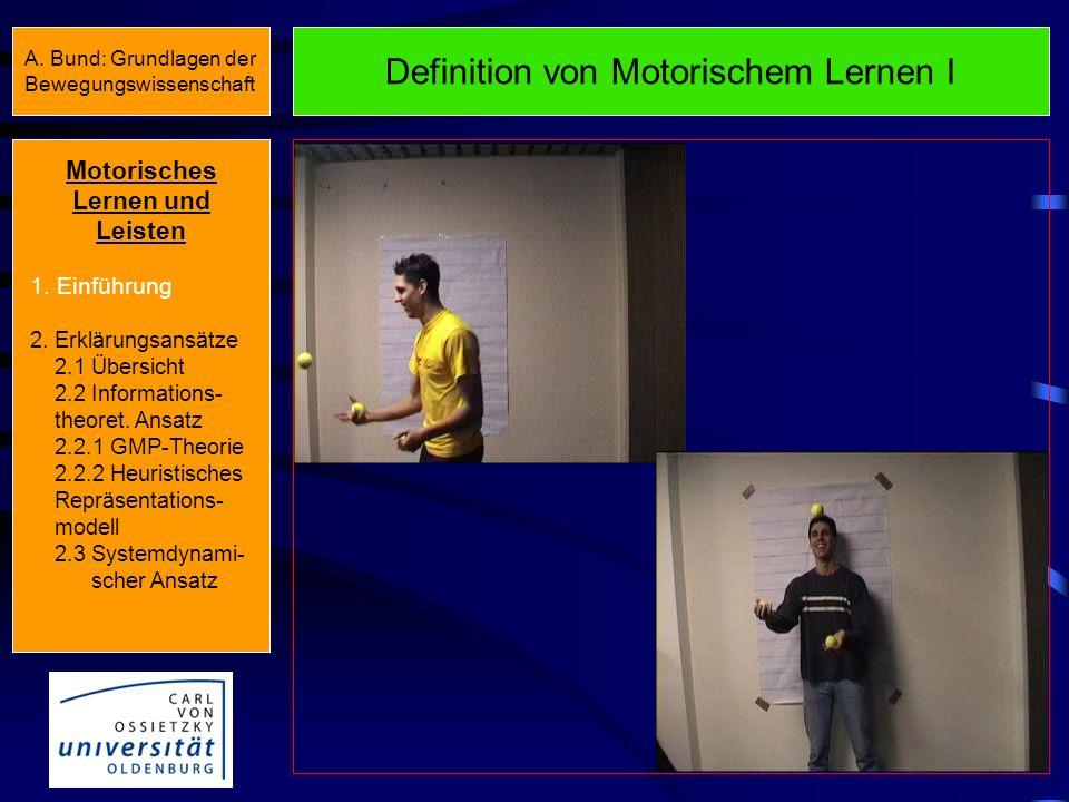 Definition von Motorischem Lernen I