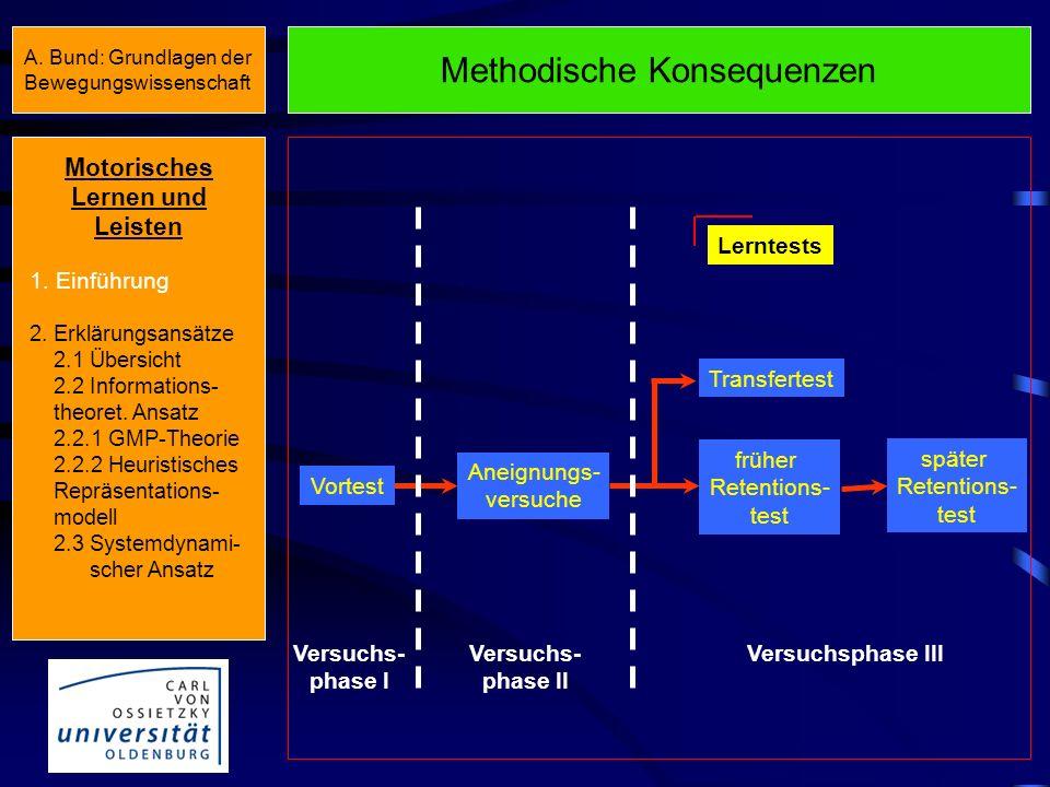 Methodische Konsequenzen