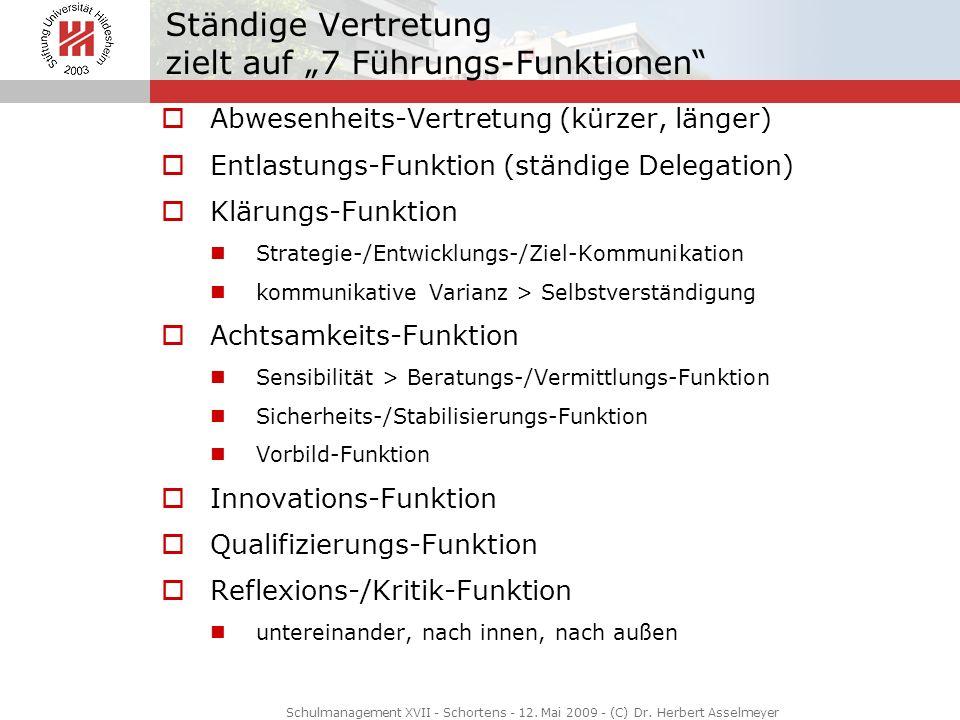 """Ständige Vertretung zielt auf """"7 Führungs-Funktionen"""