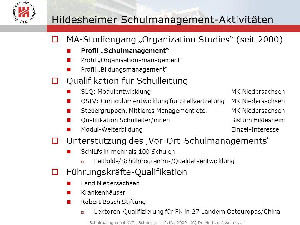 Hildesheimer Schulmanagement-Aktivitäten