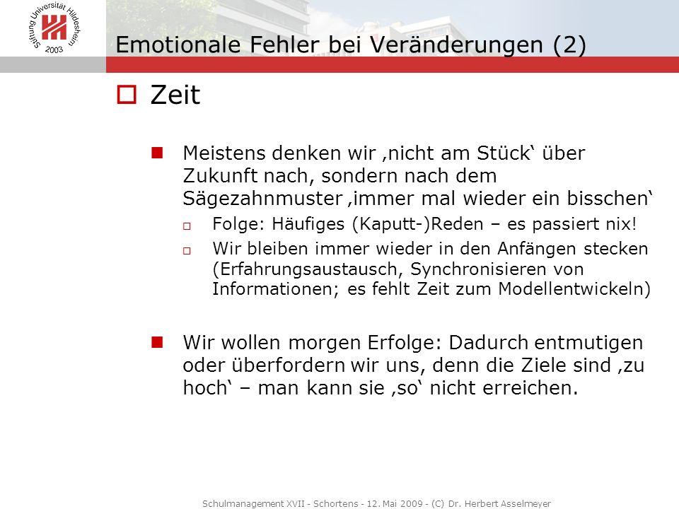 Emotionale Fehler bei Veränderungen (2)