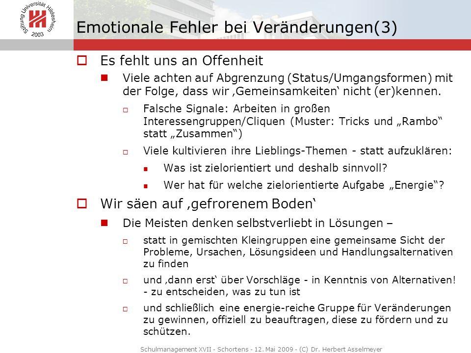 Emotionale Fehler bei Veränderungen(3)