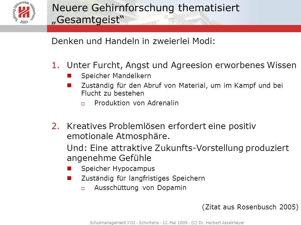 """Neuere Gehirnforschung thematisiert """"Gesamtgeist"""