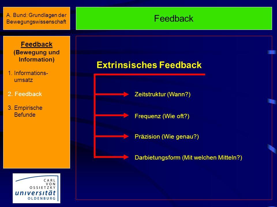 (Bewegung und Information) Extrinsisches Feedback