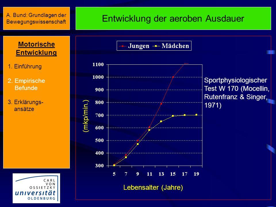 Entwicklung der aeroben Ausdauer