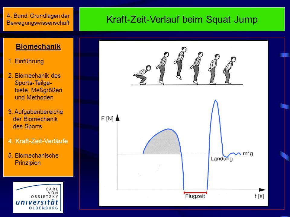 Kraft-Zeit-Verlauf beim Squat Jump
