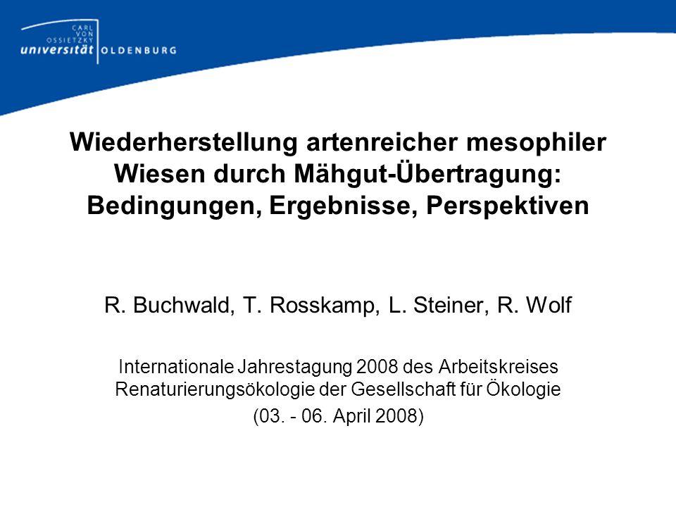 R. Buchwald, T. Rosskamp, L. Steiner, R. Wolf