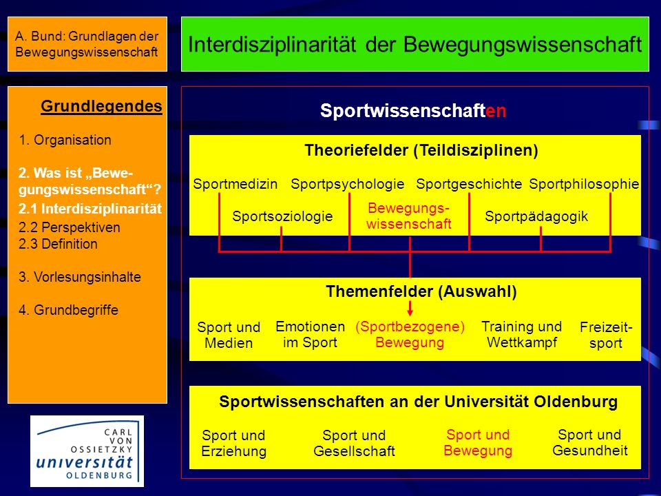Theoriefelder (Teildisziplinen) Themenfelder (Auswahl)