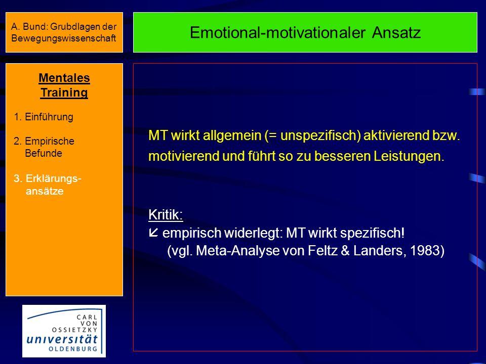 Emotional-motivationaler Ansatz