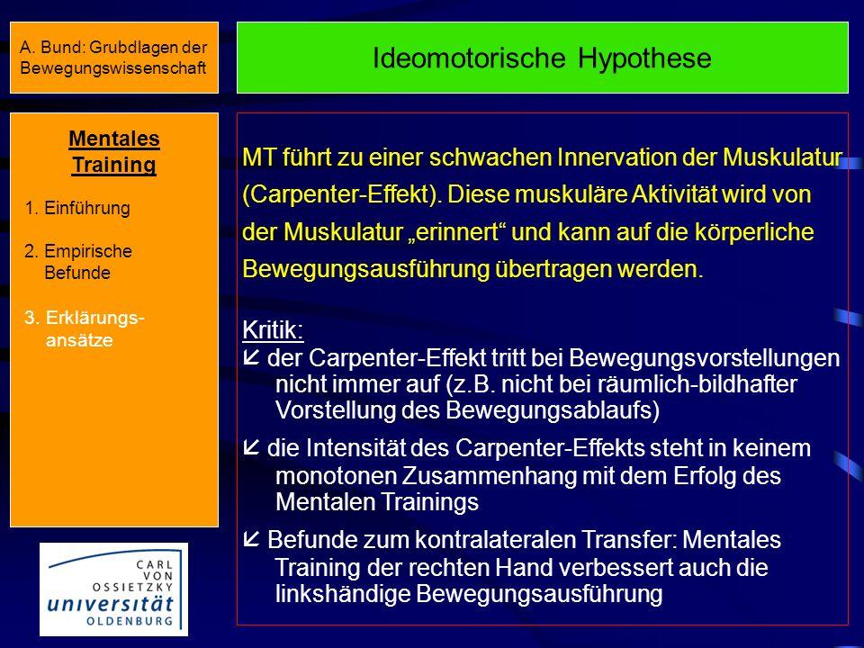 Ideomotorische Hypothese