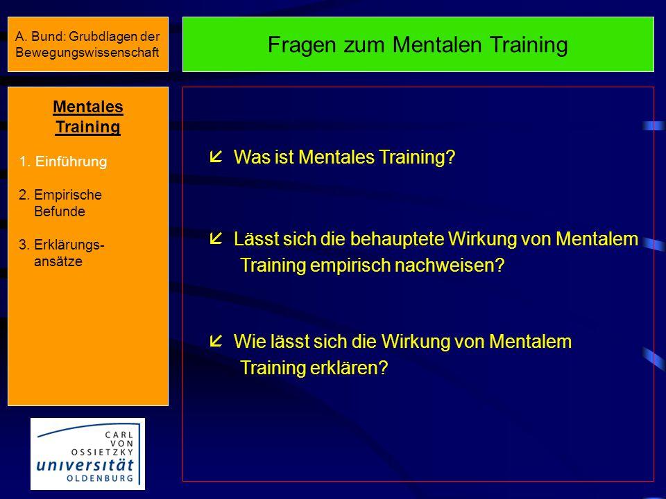 Fragen zum Mentalen Training