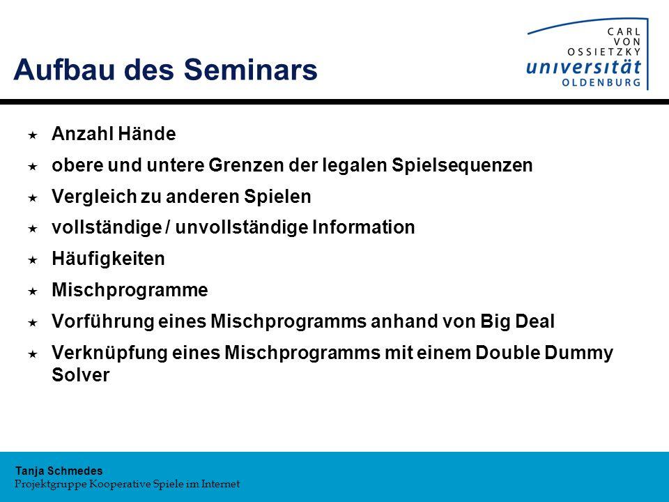 Aufbau des Seminars Anzahl Hände
