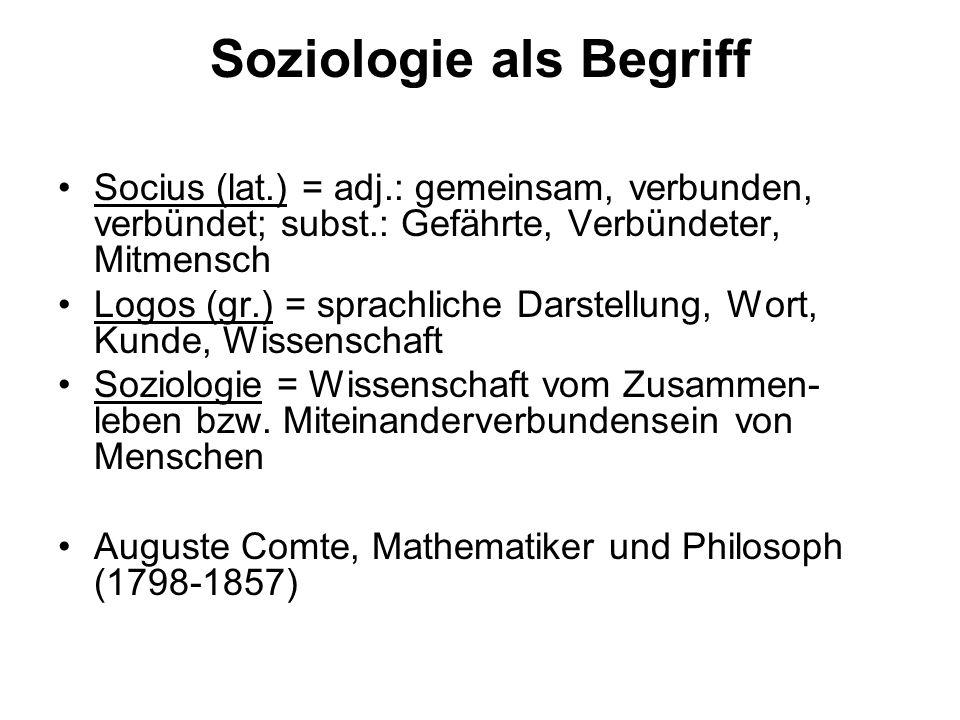 Soziologie als Begriff