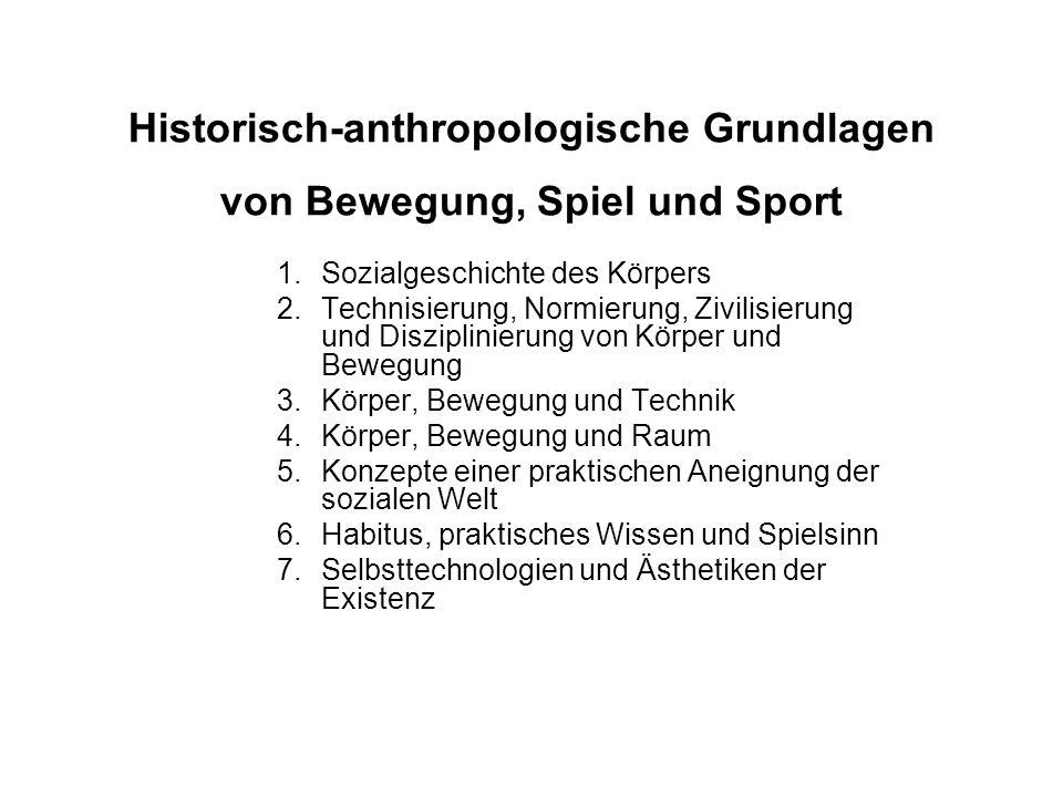 Historisch-anthropologische Grundlagen von Bewegung, Spiel und Sport