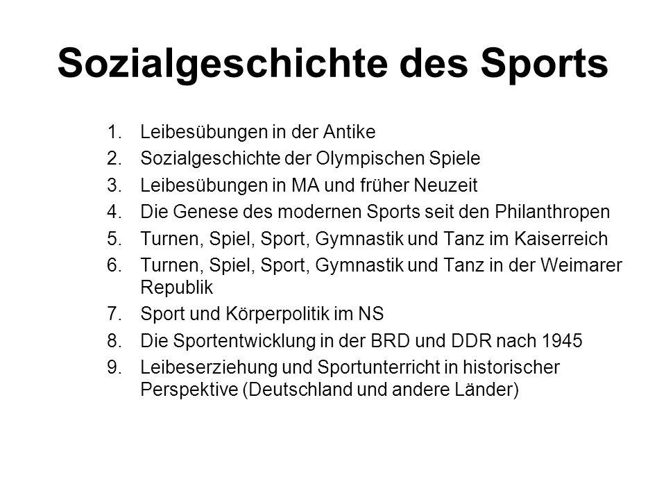 Sozialgeschichte des Sports
