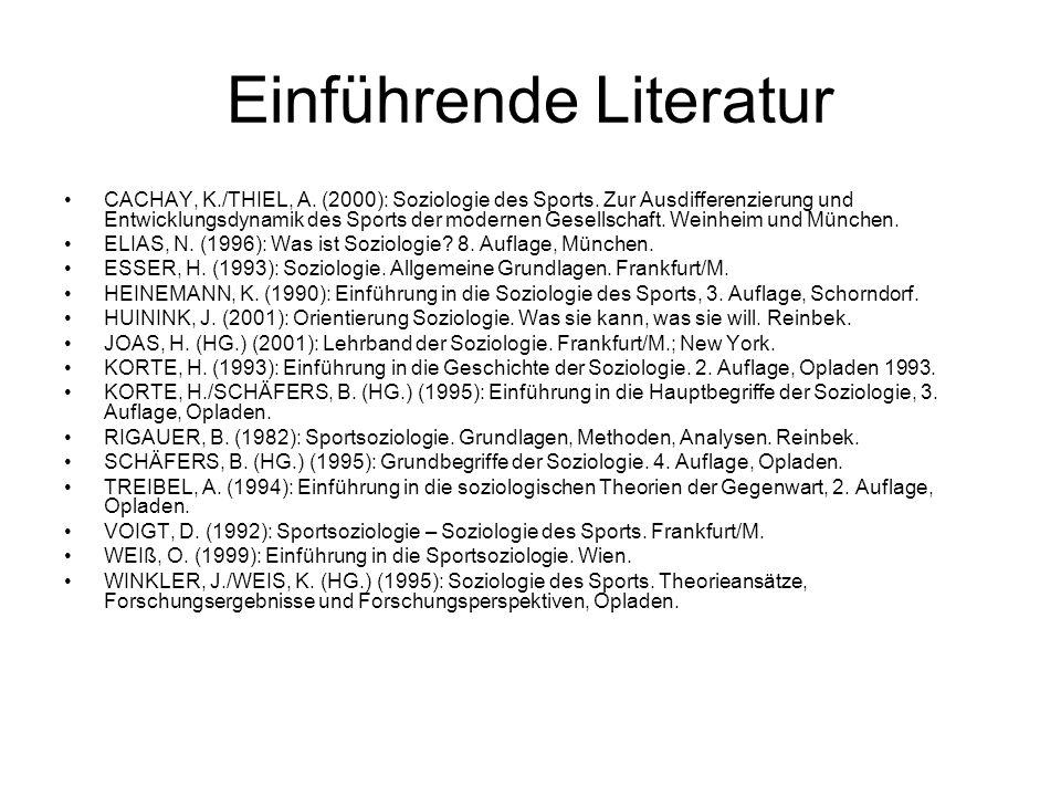 Einführende Literatur
