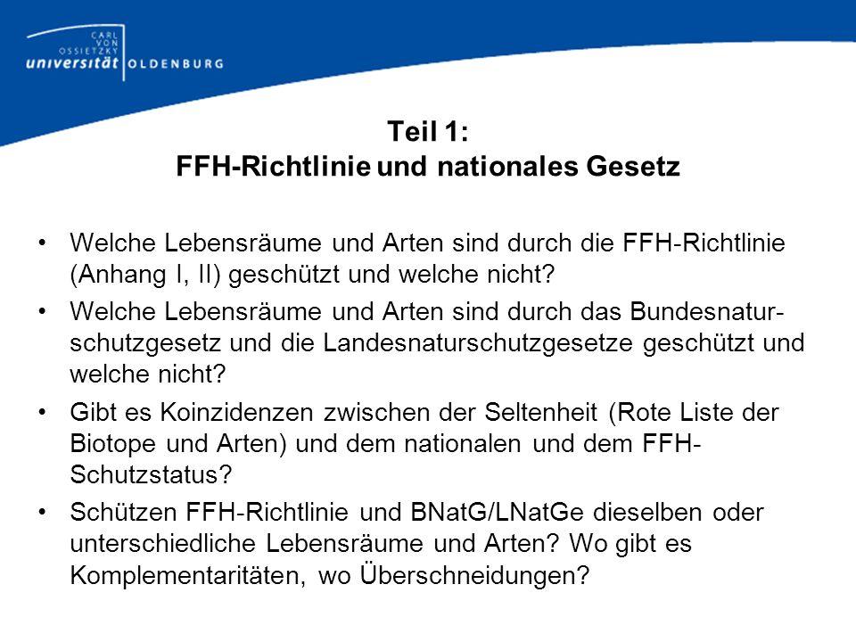 Teil 1: FFH-Richtlinie und nationales Gesetz