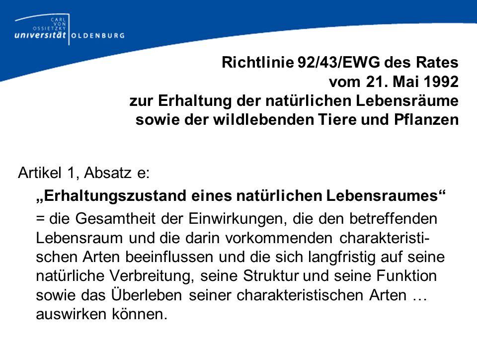 Richtlinie 92/43/EWG des Rates vom 21